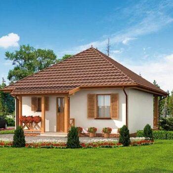 Projekt krásného a kompaktního domu se dvěma ložnicemi