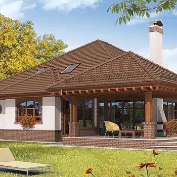 一个美丽的房子,有一个阁楼和许多房间的项目