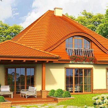 Wonderful project of a house with an attic, 5 bedrooms and a double garage