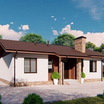 一栋迷人的单层房屋的项目,其中三间卧室的面积不足3平方米。